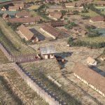 """Mächtige Befestigungsanlagen der """"Elsachstadt"""" mit Pfostenschlitzmauer, doppeltem Graben und Tor A © 3dmuseum.eu"""